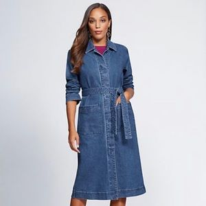 Denim Duster Jacket-Gabrielle Union's Ny&Co